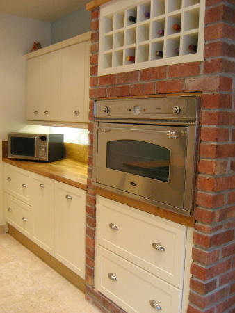 kitchen counter microwave oven storage